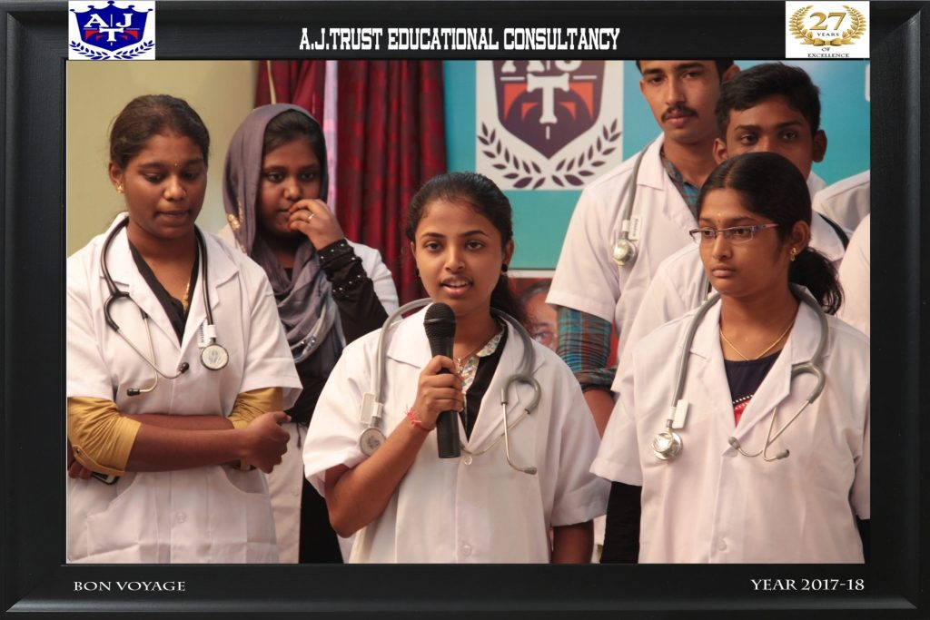 STUDENT-RAJ PRIYADARSHINI SHARING HER EXPERIENCE ABOUT SERVICE & GUIDANCE  FROM A J TRUST TEAM F