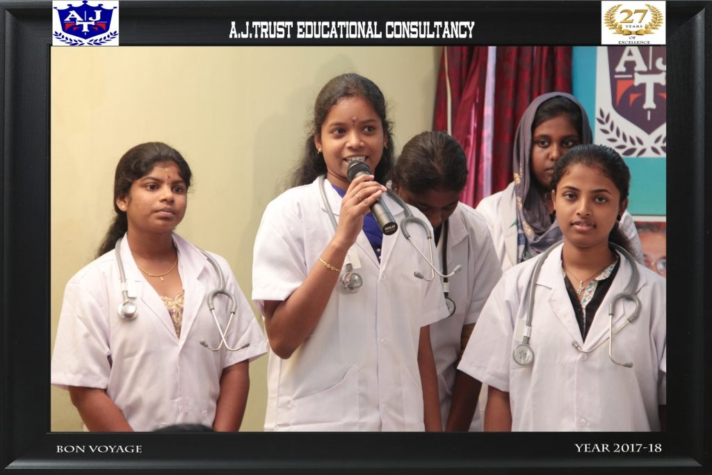 STUDENT-S KOWSALYA SHARING HER EXPERIENCE ABOUT SERVICE & GUIDANCE  FROM A J TRUST TEAM FOR SUCC