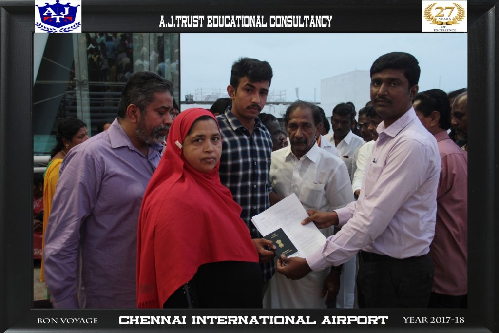 DR.FAHADH HANDING OVER TRAVEL DOCUMENTS TO MD HAFEEZ PRIOR DEPARTURE