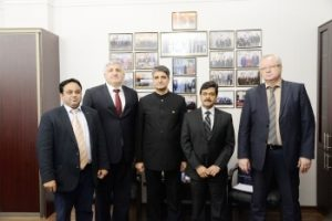 Visit of the Minister of the Embassy of India at StSMU