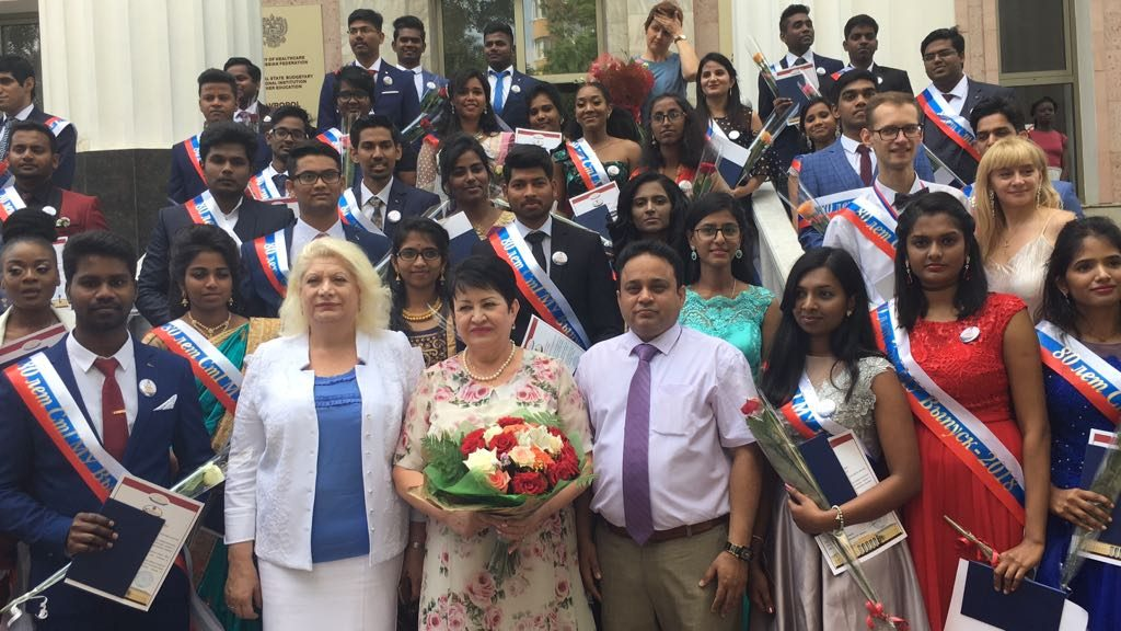Convocation ceremony 2018-DR.NAJEER,DIRECTOR A J TRUST ALONG WITH HIS STUDENTS & UNIVERSITY HIGH
