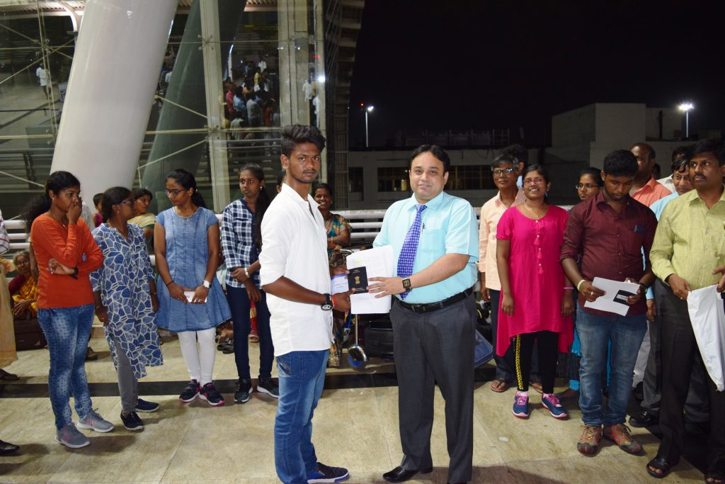 1st batch student-B. Vimalnath to Stavropol state medical university departing from Chennai Int'l Ai