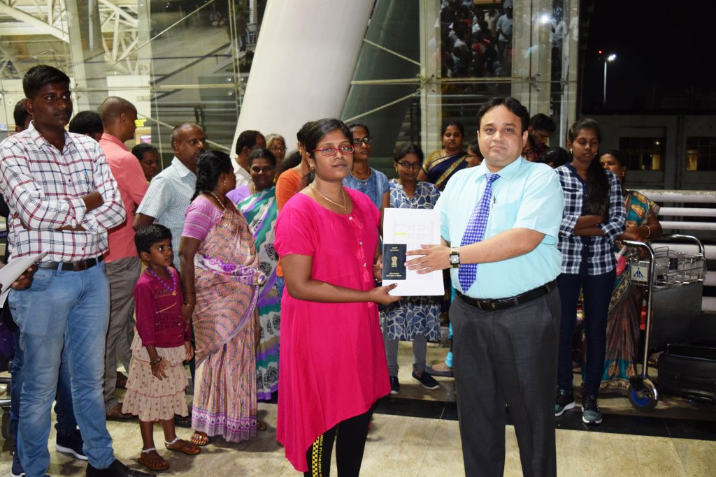 1st batch student-K.Suriya to Stavropol state medical university departing from Chennai Int'l Airpor
