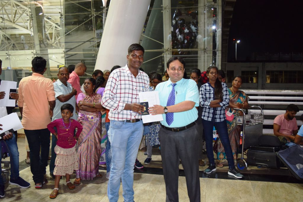 1st batch student-R.Vikram to Stavropol state medical university departing from Chennai Int'l Airpor