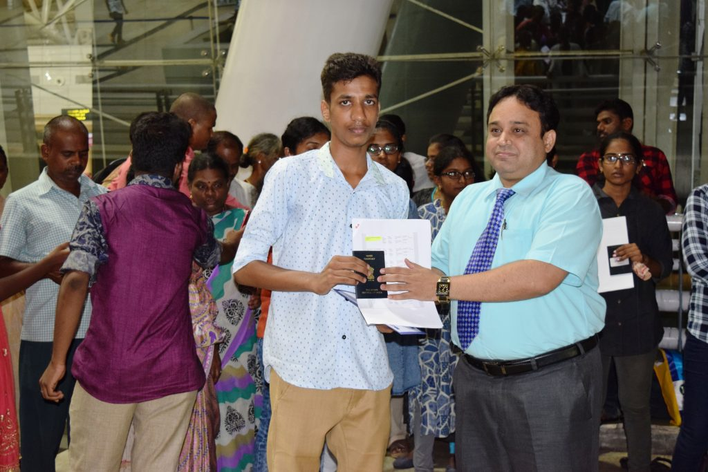 1st batch student-R.Sundar to Stavropol state medical university departing from Chennai Int'l Airpor