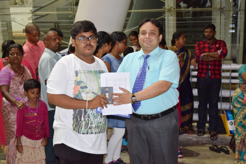 1st batch student-P. Shahjahan to Stavropol state medical university departing from Chennai Int'l Ai